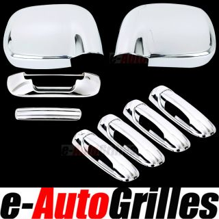 02 08 Dodge RAM Chrome Mirror 4 Door Handle Tailgate Cover Kit Set Combo