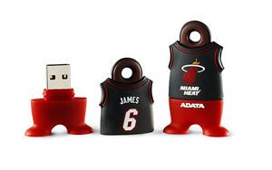 ADATA NBA 4GB USB 2 0 Flash Memory Pen Drive Miami Heat Lebron James 6
