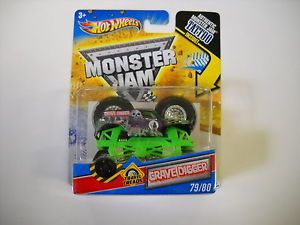 Hot Wheels Monster Jam Grave Digger Tattoo Series 79 80 1 64 Scale Travel Tread