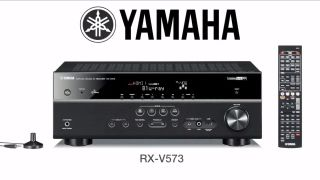 New Yamaha RX V573BL 7 1 Channel Home Theater Audio Video Receiver Amp RXV573