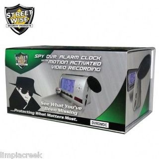 Spy Digital Alarm Clock DVR with Motion Detection and Remote Control