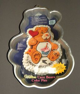 Vintage 1983 Wilton Care Bears Cake Pan w Instructions
