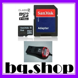 SanDisk 8GB MicroSD T Flash Memory Card USB Adapter 619659049201