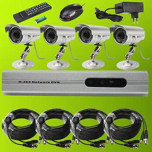 Hi Q Security Recorder 4CH Channel DVR CCTV System Motion Detect Infrared Camera