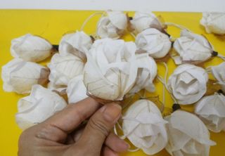 White Rose String Lights Flowers 20 Party Patio Fairy Decor Christmas Wedding
