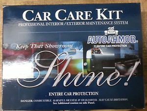 Car Care Kit New Auto Armor Entire Car Protection Showroom Shine 4pc Kit