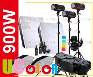 900W II Studio Monolight Strobe Flash Lighting Kit Light