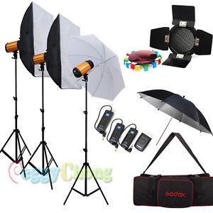 Godox 900W Photo Photography Studio Strobe Flash Softbox Kit Lighting Stand Set