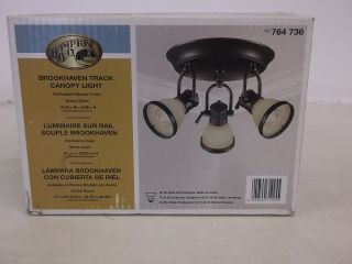 Hampton Bay Brookhaven Track Canopy Light Oil Rubbed Bronze 764736
