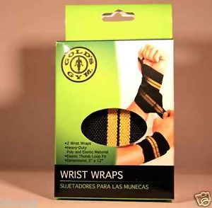 Gold's Gym Wrist Wraps for Weight Lifting 1 Pair Heavy Duty Competition Grade