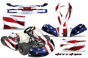AMR Racing Kart Graphic Sticker Decal Kit Jr CRG Mini Cart Accessories Parts USA