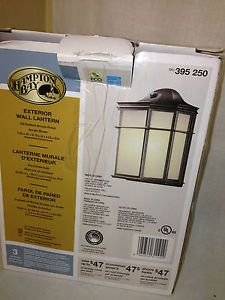 Hampton Bay Wall Mount 1 Light Outdoor Oil Rubbed Bronze Dusk to Dawn Lantern