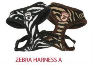 Puppia Soft Dog Harness Luxury Collection Blk Zebra M