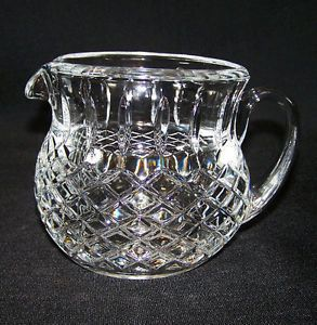 Beautiful Waterford Crystal Cut Glass Milk Water Pitcher Mint Condition