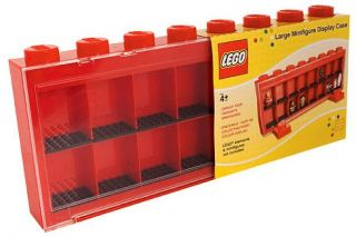 Lego Large Minifigure Display Storage Collector Case Red Blue Yellow Black KP004 019649229826