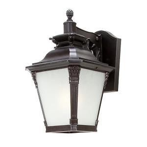 Hampton Bay 152476 Seville 1 Light Wall Mount Outdoor Lantern in Bronze