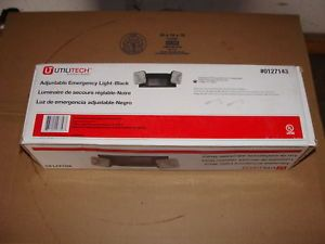 Brand New in Box Utilitech Black Adjustable Emergency Light Wall Mount