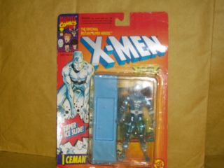 X Men Marvel Comics Ice Man 1993 Action Figure Collectible Trading Card NOC