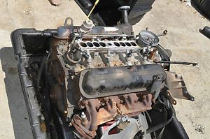 Ford 302 Crate Engine Motor w Crate Box Gas Water Pump Carburetor Block as Is