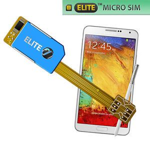 Dual Sim Card Adapter for Samsung Galaxy Note 3 Micro Sim No Cut 3G UMTS UK