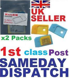 MicroSim Micro Mini Sim Card Adapter Converter Adaptor to Standard Normal UK11