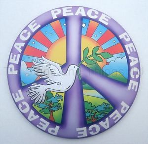 Peace Dome Tin Sign Dove Love Christian 60's Purple Hippie Girl's Room Decor OHW