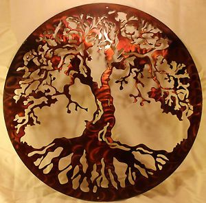 Tree of Life Silhouette Metal Wall Art Home Decor