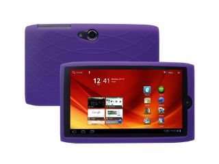 For Acer Iconia Tab A100 7 inch Tablet Soft Silicone Skin Cover Case Purple