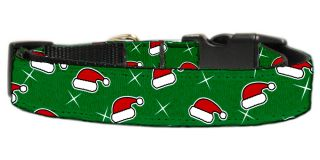 Santa Hat Adjustable Nylon Ribbon Pet Dog Collar
