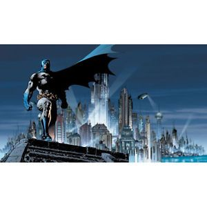 Batman Gotham City Mural DC Comics Bat Man Prepasted Wallpaper Accent Decor