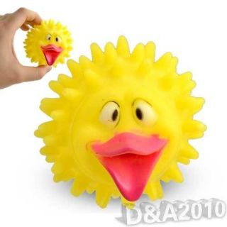 Cute Duck Spiky Ball Pet Training Puppy Dog Cat Squeaky Toy Chew Rubber Toy 2013