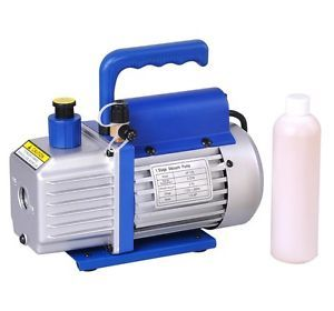 Single Stage 3CFM Rotary Vane Vacuum Pump Refrigerant HVAC AC Air R410 R134 R12