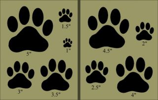 Primitive Stencil Dog Paws Shapes Farm Puppy Pet Vet Animal Bark Canine Police