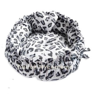 Fashion Leopard Lace 100 Cotton Pets Puppy Dog Cat Beds House Mats Double Side