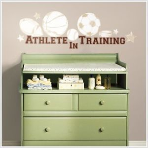 Athlete in Training 23 Removable Wall Decals Baby Sports Nursery Decor Stickers