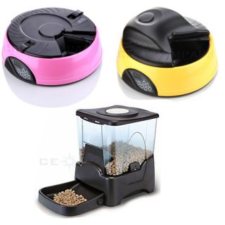 4 6 Large Programmable Timer Automatic Pet Dog Cat Feeder Water Tray Bowls