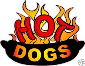 Hot Dog Hotdog Concession Food Advertisement Decal 14""