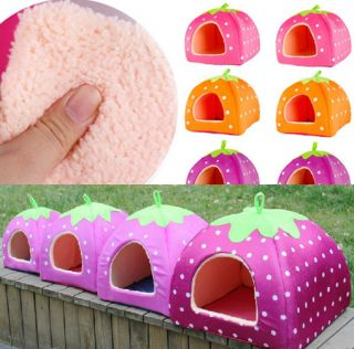 1pc Soft Strawberry Pet Houses Cat Bed Home Dog Kennel Cat Warm Houses s M L XL