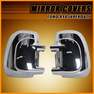 99 07 Ford F250 Superduty Excursion ABS Chrome Side Telescopic Mirror Cover