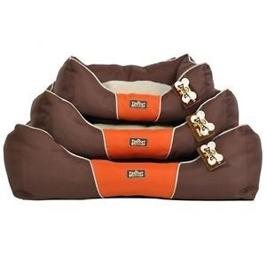New Luxurious Oxford Pet Dog Cat Soft Bed House Kennel Brown Small Medium Large