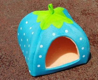 New Hot Beautiful 4 Size Soft Strawberry Pet Dog Cat Kennel Doggy Bed House