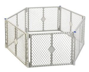 New Pet Dog Baby Play Pen Yard Safety Gate Expandable Panels Superyard