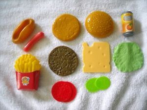 Pretend Play Child's Play Food Hamburger Fries Hot Dog More 11 Pieces