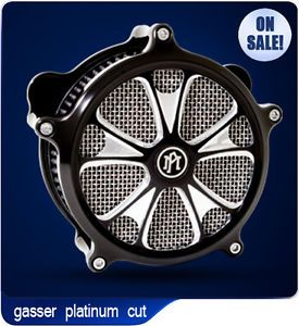 Performance Machine Gasser Platinum Cut Harley Davidson Air Cleaner PM