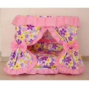 Sweet Princess Dog Cat Handmade Bed House Pink s M
