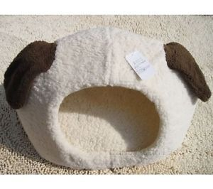 Cute Dog Head Cat House Bed Dog House Pink Medium