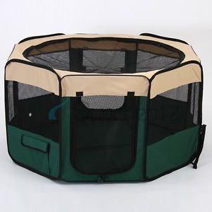 Medium Portable Pet Playpen Exercise Puppy Dog Cat Play Pen Foldable Pet Fences
