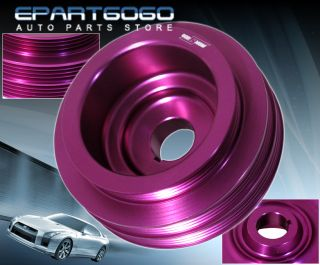 Honda Acura B16A Engine Motor Bay Purple Underdrive Crank Pulley Performance JDM