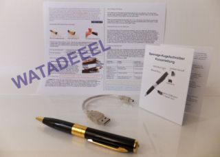 New Gold Pen Spy Camera DVR Cam Hidden Video Spycam USA Fast 2 3 Day Shipping