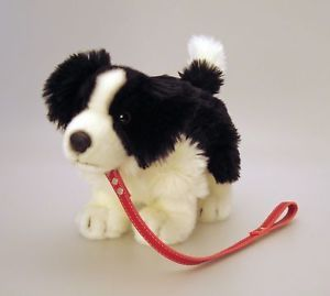Keel Toys 30cm Standing Border Collie Dog on Lead K85